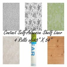"""Lot of 3 Contact Quick Cover Self-Adhesive Shelf Drawer Liners 18"""" X 54"""" NEW"""