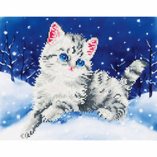Diamond Dotz Complete Diamond Facet Art Kit Kitten In The Snow