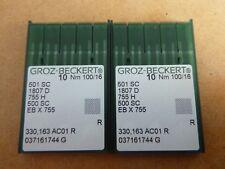 20X NEEDLES FOR INDUSTRIAL REECE KEY HOLE MACHINE MODEL 101 SIZE 100/16 501SC