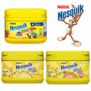 Nestle Nesquik Chocolate, Banana, Strawberry Flavour Milkshake Powder 300g New