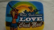 fishing fish T tee shirt walleye grouper real fisherman love cheek meat