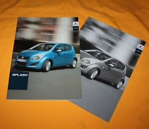 Suzuki Splash 2013 Prospekt Brochure Catalog Folder Prospetto