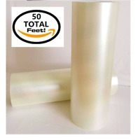 Craft Transfer Tape Roll 12 x50 Feet Clear Lay Flat Application Vinyl Signs SALE