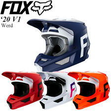 FOX 2020 V1 Werd Helmet Navy/White/Flame Red Off-Road/MX/ATV/Motocross 23978-