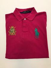 RALPH LAUREN BIG PONY POLO LARGE CREST ON CHEST IV ON SLEEVE MENS XLT GUC