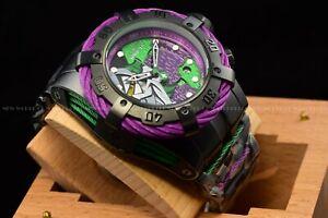 Invicta Men's 53mm DC Comics Grand Bolt Zeus Joker Swiss Limited Ed Purple Watch