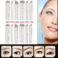 50X Microblading Needles -Tattoo Permanent Makeup Manual Eyebrow Blade 7-21 Pins
