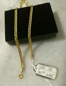 GoldNMore: 18K Gold Anklet  10 inches 1pc