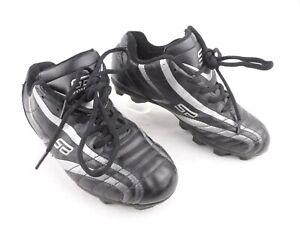 Spot-Bilt Youth Sz 4 Black Lace Up Fold Tongue Soccer Baseball Football Cleats
