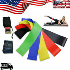 5 PCS Resistance Loop Bands Set Workout Exercise Yoga Fitness Stretch Gym Booty