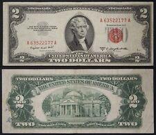 STATI UNITI USA UNITED STATES TWO 2 DOLLARS 1953 B SMALL SIZE PICK #380 b #B943