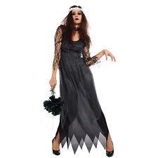 Disfraz de novia de la muerte tenebroso para Mujer Fiesta Halloween Talla XL XXL