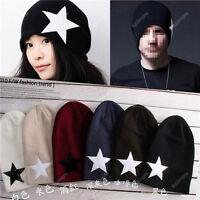 New Men Women Xmas Warm Winter Popular Unisex Star Cap Beanie Knit Ski Hat 18