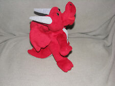STUFFED PLUSH DRAGON RED GRAY SMALL MINI TOY
