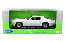 WELLY 1:18 1972 PONTIAC FIREBIRD TRANS AM Diecast Model White 12566W-WH