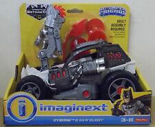 Imaginext ~ DC Batman Streets Of Gotham ~ Cyborg & Saw Buggy Figure & Vehicle