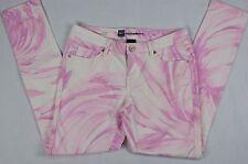 Mossimo Women's Pastel Pink Purple White Denim Skinny Jeans size 4