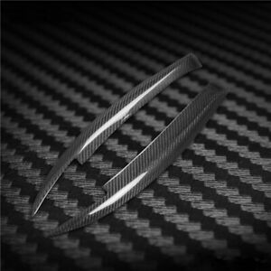 Carbon Fiber Eyelids Eyebrows Lids Headlight Molding Trim Cover For BMW 1 Series