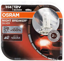 2X H4 12V Lamps Halogen Headlight Bulbs Bulb Osram Night Breaker Silver 60