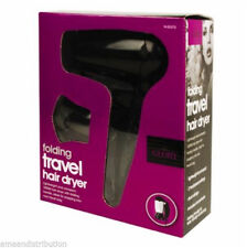 BLACK FOLDING COMPACT HAIR DRYER TRAVEL HOLIDAY LIGHTWEIGHT DUAL VOLTAGE 1200W