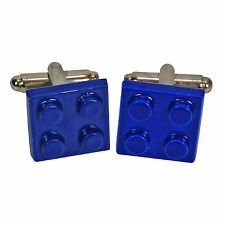 LEGO CUFFLINKS INSPIRED BLUE BRICK Toy Mens Wedding Gift NOVELTY