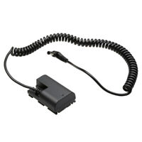 【US】Decoded LP-E6 Dummy Battery DR-E6 DC Coupler Cable for Canon 5D4 7D2 90D R5