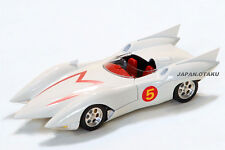"LIMITED Speed Racer Mach Go Go Go ""MACH 5"" Aluminum Body Model Car All White"