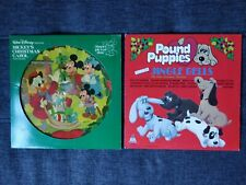 Christmas Records POUND PUPPIES SING & BARK JINGLE BELLS Mickey Mouse Picture LP