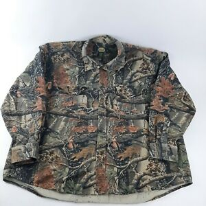 Cabela's Hunting Seclusion 3D Camo Long Sleeve Shirt Men's 3XL Tall Button up