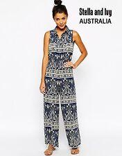 paisley boho jumpsuit size 8 au womens new