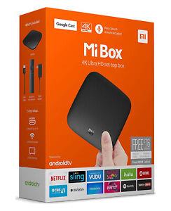 Xiaomi Mi Box 4K Ultra HDR Android TV Box Voice Search Remote Smart Media Player