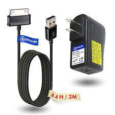 "6ft long USB Ac Adapter Charger for SAMSUNG GALAXY TAB 7 8.9"" P3100 P7300 N8000"