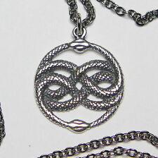 AURYN Pendant Necklace in Sterling Silver Ouroboros Neverending Story Snake 233