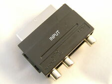 Scart Adaptor 3 RCA Phono Input Adaptor PS1 PS2 PS3 Wii