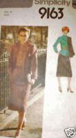 Vintage Simplicity SEWING Pattern 1970s Misses Skirt Blouse Jacket 16