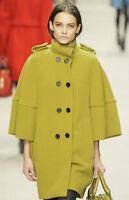 SALE $3,950 RUNWAY Burberry Prorsum Cocoon Wool 4 6 38 Trench Coat Jacket Women