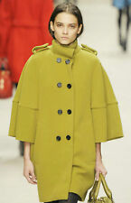 $3,950 RUNWAY Burberry Prorsum Wool 4 6 38 Trench Coat Jacket Women Holiday Gift