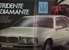 Z28 Ritaglio Clipping 1985 Maserati 228