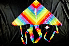 3 CHINESE RAINBOW PVC KITE W KITESURFING HARNESS BAR CHILDREN PARTY TOYS GIFT A3