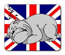 Sleeping Bulldog Mouse Mat - Union Jack Flag