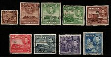Malta 1938 1943 King George VI selection to 3d Used