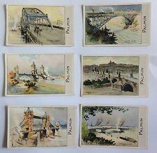 Sammelbilder - Berühmte Brücken - Serie 80 Nr. 1-6 - Palmin-Werbung -