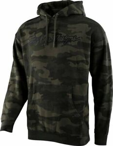 Troy Lee Designs Signature Pullover Hoodie Forest Camo 2021