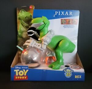 "Disney Pixar TOY STORY 25th Anniversary REX (ROBOT ARMS) 8"" Action Figure  NEW"