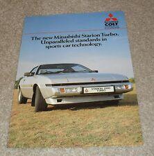 Mitsubishi Starion 2000 Turbo Brochure 1985