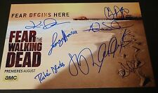 """FEAR THE WALKING DEAD Cast(x8) Hand-Signed """"CLIFF CURTIS""""11x17 SDCC Photo(PROOF)"""
