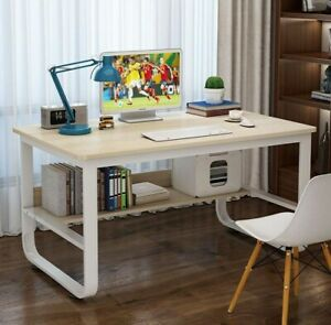 Small Computer Desk Writing Study Table Office With Shelve Corner Study Home New