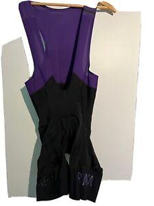 Rapha Pro Team Bib Shorts II Black/purple Regular Length Worn Twice Medium