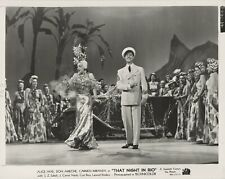 Carmen Miranda on stage with Don Ameche ~ ORIG 1941 photo... That Night in Rio