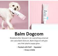 BARK x GLOSSIER Balm Dogcom (Dotcom) Plush Squeaking DOG TOY NWT Fast Ship!!
